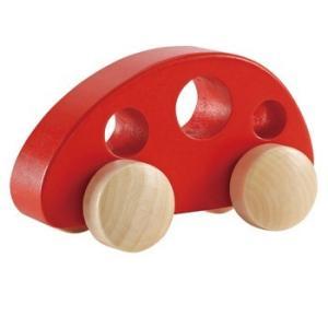 ミニヴァンレッド 赤ちゃん 車 木のおもちゃ 出産祝い 1歳 2歳 誕生日 プレゼント|mokuguru