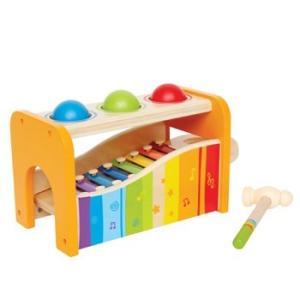 パウンド アンド タップベンチ とんかち 音遊び 鉄琴 おもちゃ 知育玩具|mokuguru