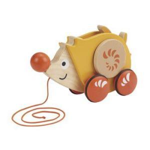 プルトーイ ウォークアロングヘッジホッグ 出産祝い 1歳 2歳 誕生日 プレゼント 木のおもちゃ|mokuguru
