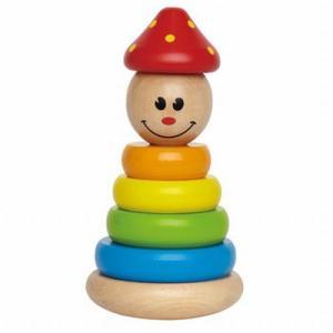 スタッキングピエロ 木のおもちゃ 知育玩具 出産祝い 1歳 誕生日プレゼント|mokuguru