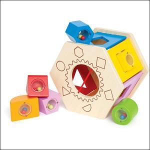 シェイク&マッチシェイプソーター 積み木 型はめ 木のおもちゃ 1歳 2歳 3歳 知育玩具|mokuguru