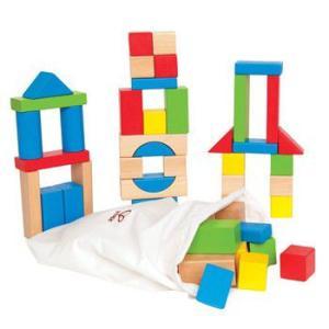 メープルブロック 色つき積み木 木のおもちゃ 出産祝い 1歳 2歳 誕生日プレゼント|mokuguru