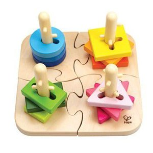 クリエイティブ ペグパズル 知育玩具  はめこみ パズル 1歳半 2歳 誕生日 プレゼント|mokuguru