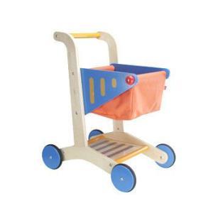 ショッピングカート お買いものごっこ 木のおもちゃ 2歳 3歳 誕生日 プレゼント|mokuguru
