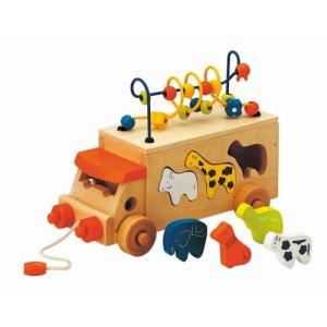 アニマルビーズバス 出産祝い 木のおもちゃ 知育玩具 1歳 2歳 3歳 誕生日 プレゼント|mokuguru