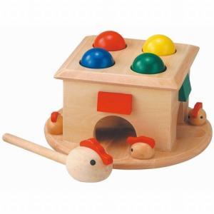 たたいてコロン トンカチ遊び 木のおもちゃ 出産祝い 1歳 2歳 3歳 誕生日 プレゼント|mokuguru