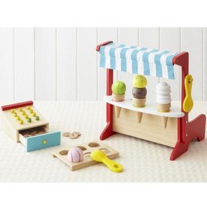 森のアイスクリーム屋さん エド・インター ままごとセット 木のおもちゃ|mokuguru