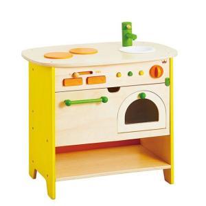 ままごと キッチン 木のおもちゃ 3歳 4歳 誕生日 プレゼント エド・インター 森のアイランドキッチン|mokuguru