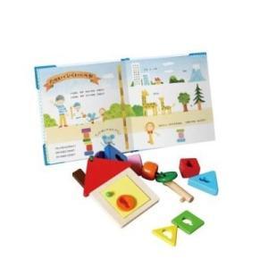 チーズくんとふしぎなかぎ 鍵 ひも通し おもちゃ 1歳 2歳 誕生日プレゼント|mokuguru
