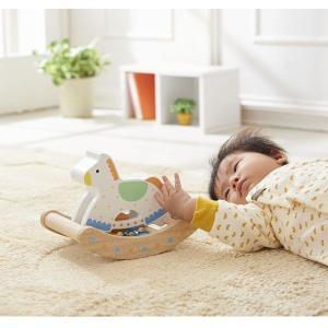 カランコロン木馬 出産祝い 赤ちゃん 1歳 誕生日 プレゼント|mokuguru