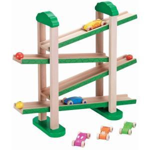 森のうんどう会 車 スロープ 木のおもちゃ 出産祝い 1歳 2歳 3歳 誕生日 プレゼント|mokuguru