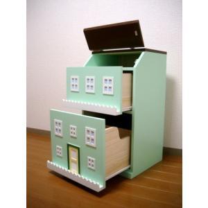 タウンチェスト グリーン 収納 家具 子供部屋 インテリア 日本製|mokuguru
