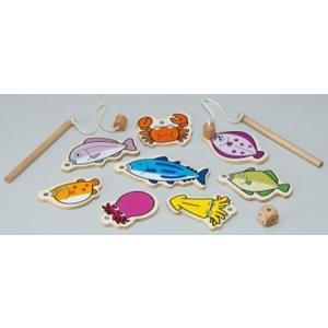 さかなつり 木のおもちゃ 2歳 3歳 男の子 女の子 誕生日プレゼント|mokuguru