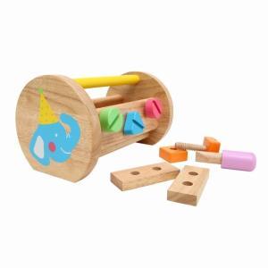 ファーストツールボックス 大工遊び 工具 木のおもちゃ 出産祝い 1歳 2歳 木のおもちゃ|mokuguru