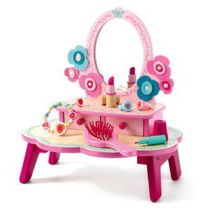 ままごと ドレッサー フローラドレッシングテーブル 4歳 5歳 女の子 誕生日 プレゼント|mokuguru