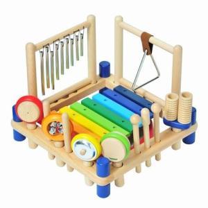 ミュージックステーション 幼児用 楽器 おもちゃ 出産祝い 1歳 2歳 3歳 誕生日 プレゼント|mokuguru
