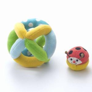 布おもちゃ ボール 出産祝い 赤ちゃん 1歳 誕生日 プレゼント コロコロコロリン|mokuguru