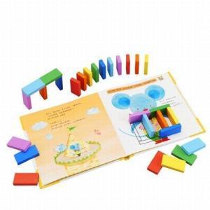 えほんトイっしょ チーズくんとことり ドミノ遊び 木のおもちゃ 絵本 2歳 3歳 誕生日 クリスマス プレゼント|mokuguru