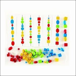 ひも通し ロジックビーズ 3歳 4歳 木のおもちゃ 知育玩具 誕生日プレゼント|mokuguru