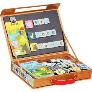 英語 アルファベット 磁石 パズル マグネット 知育玩具 ABCパズル動物の名前|mokuguru