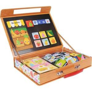 英語 アルファベット 磁石 パズル マグネット 知育玩具 ABC 食べ物の名前|mokuguru