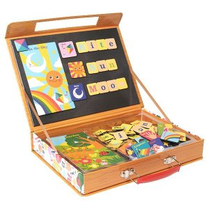 英語 アルファベット 磁石 パズル マグネット 知育玩具 ABC いろんなの名前|mokuguru