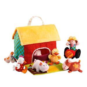 リリピュション NEW ファームハウス 布おもちゃ 出産祝い 1歳 2歳 誕生日 プレゼント|mokuguru