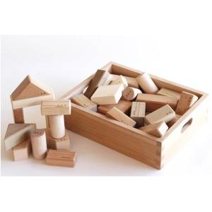 寄木の積木(木箱入り) オークヴィレッジ 積み木 白木 無塗装 日本製|mokuguru