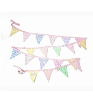 フラッグガーランド ピンク オスカー&エレン 子供部屋 インテリア 誕生日 飾りつけ|mokuguru