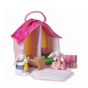 うさぎのドールハウス 布おもちゃ 出産祝い 1歳 2歳 3歳 誕生日 プレゼント|mokuguru