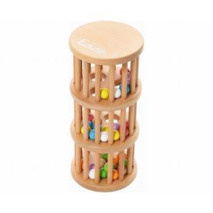 ラトルタワー 3段ラトル 玉落し 出産祝い 1歳 2歳 誕生日 プレゼント 木のおもちゃ|mokuguru