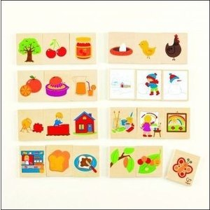 リザルタ 知育玩具 木のおもちゃ 連想ゲーム 言葉遊び 3歳 4歳  誕生日 プレゼント|mokuguru