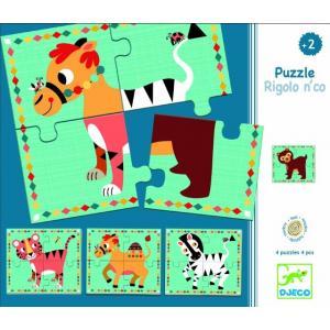 リゴロンコ フランス 木製パズル 木のおもちゃ 2歳 3歳 誕生日 プレゼント 知育玩具|mokuguru