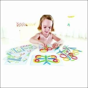 リングス&スティックス パズル 知育玩具 3歳 4歳 5歳 誕生日プレゼント|mokuguru