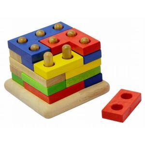 VOILA ボイラ スタッキングジグソーズ 知育玩具  パズル 2歳 3歳 誕生日 プレゼント|mokuguru