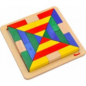 木のおもちゃ ヴァーサタイルズ タングラム パズル モザイク遊び 3歳 4歳 誕生日 プレゼント mokuguru