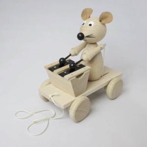 鉄琴ねずみさん プルトーイ チェコ製 出産祝い 赤ちゃん 1歳 2歳 誕生日 プレゼント|mokuguru