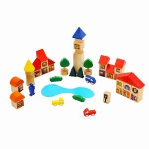 積み木  タウンブロックス 3歳 4歳 誕生日 プレゼント おもちゃ 知育玩具|mokuguru