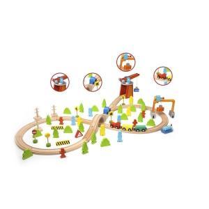 木製レール トレインセット 75ピース 3歳 4歳 男の子 誕生日 プレゼント|mokuguru