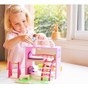 木製ドールハウスセット 3歳 4歳 5歳 女の子 おもちゃ 誕生日 プレゼント|mokuguru