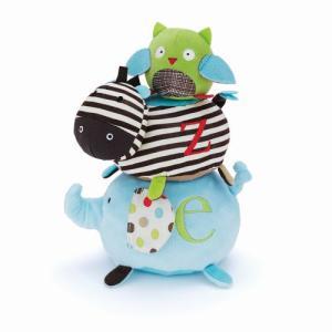 アルファベットズー・スタックアニマルズ 出産祝い 赤ちゃん 1歳 誕生日 プレゼント 布おもちゃ mokuguru