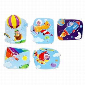 アップインジエアー 絵合わせ パズル 乗り物 知育玩具 2歳 3歳 誕生日プレゼント mokuguru