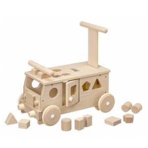 森のパズルバス 赤ちゃん 手押し車 乗用玩具 木のおもちゃ 日本製|mokuguru