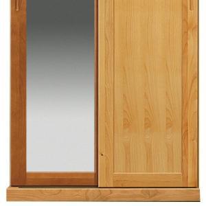 スライドワードローブ 幅85 NCapri 大川家具 国産 日本製 木製 洋服タンス 服掛け クローゼット 鏡付 板戸 収納 おしゃれ 北欧風 モダン mokukagu 05