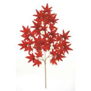 造花 もみじ中枝 赤 5本セット|mokukouya