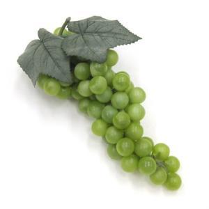 造花 ぶどう グレープの実 25cm グリーン色|mokukouya