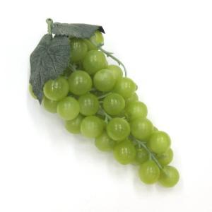 造花 ぶどう グレープの実 17cm グリーン色|mokukouya
