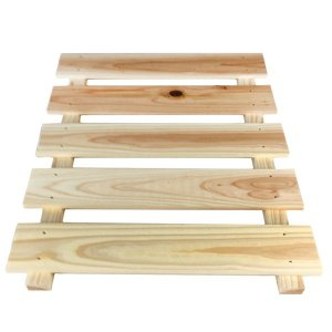 【組立セット】スノピタ(ホワイト)表タイプ+杉防腐スノコセット 450x595ミリ