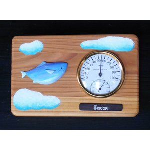 温湿度計(空飛ぶさかな) mokuzoukousya2