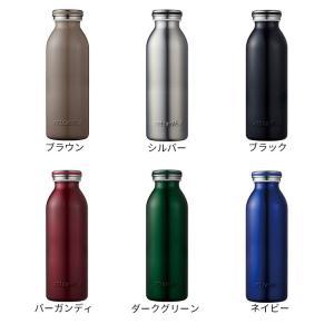 <mosh! マイボトル 500ml>『!マーク』入りのふたデザインも「mosh!」の特徴。 ミルキーなカラーバリエーションも好評!